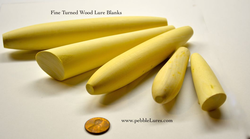 Fine Turned Wood Lure Blanks