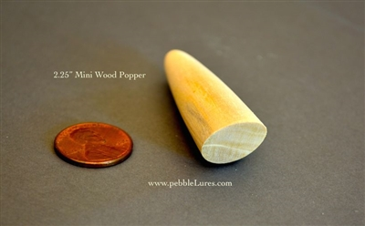 Pebble Lures Mini 2 25 226 2 25inch Turned Wooden Popper
